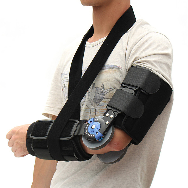 New Arrival Medical Arm Brace Angle Adjustable Hinge Elbow Support