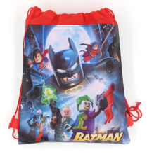 12Pcs Super Hero Superman Batman Cartoon Kids Drawstring Backpack Shopping School Traveling Party Bags Birthday Gifts(China)