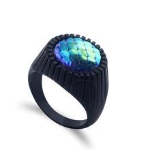hot deal buy dc anime superhero aquaman jason momoa ring props black ring cosplay dragon scale lady men's ball decoration fine jewelry