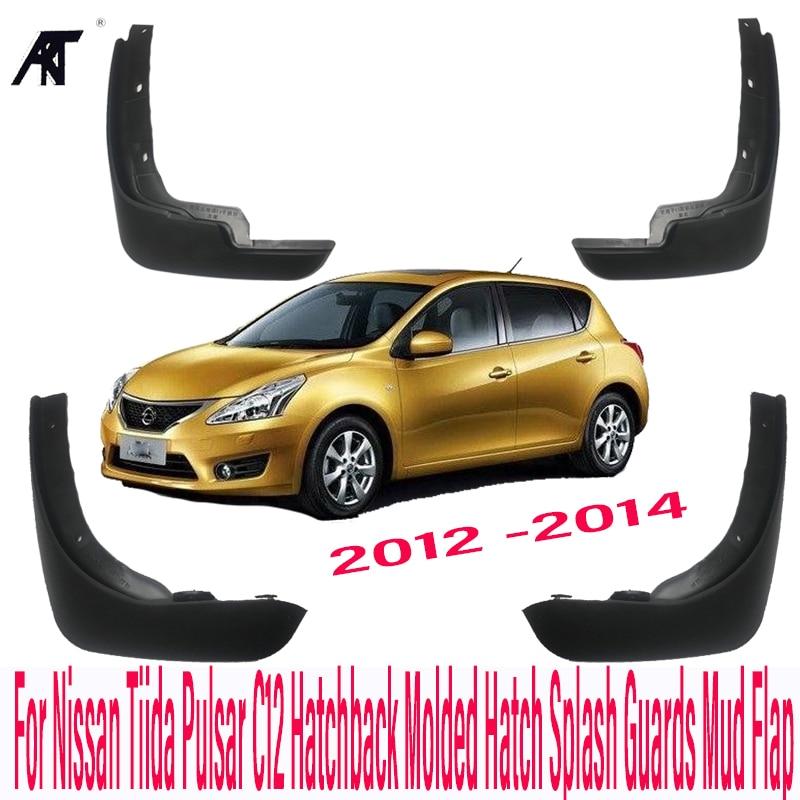 Boue de voitures Volets Pour Nissan Tiida Pulsar C12 Hayon Moulé 2012-2014 Trappe-Boue Mud Flap Garde-Boue Fender