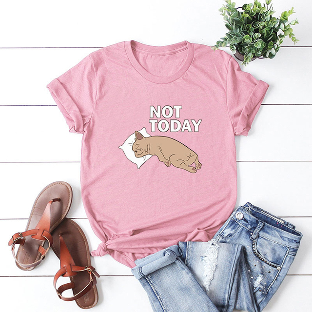 Bright Dog Patterned Short T-Shirt