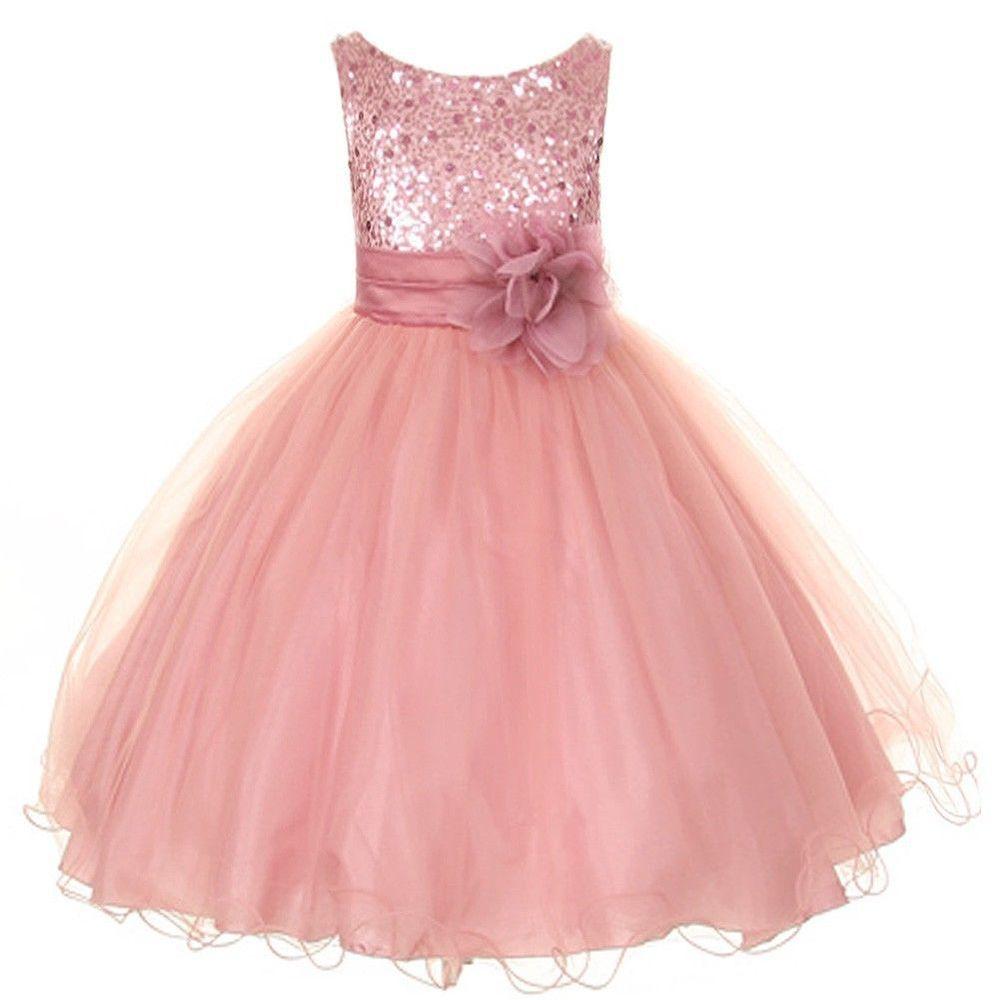 Excepcional Vestidos De Fiesta De Color Rosa Para Las Niñas Galería ...