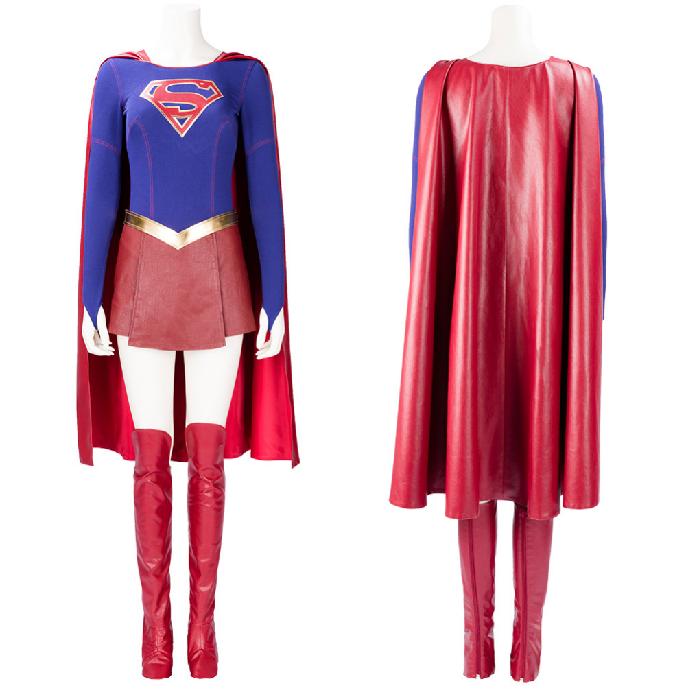 Supergirl Kara Zor E / Kent Dress Cosplay Costume Outfit Uniform Battle Suit Halloween Carnival Costumes