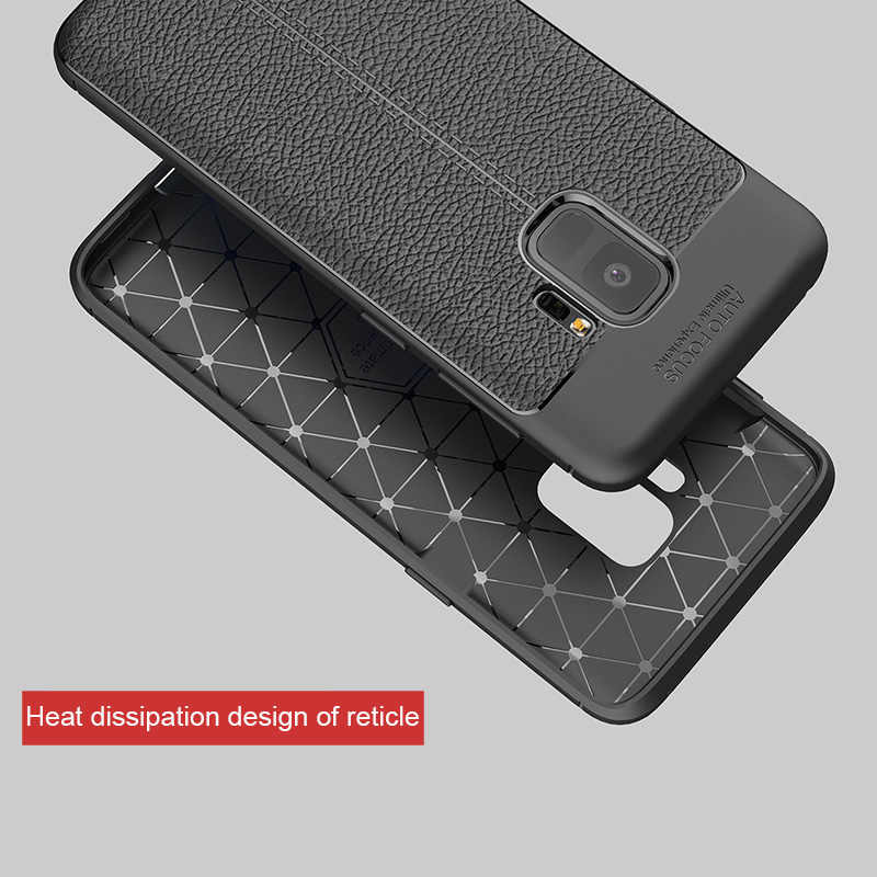 Soft TPU Rubber For Samsung Galaxy A5 A7 A8 A9 Plus 2018 3D Leather Case For Samsung Galaxy S8 S9 S10 Plus Note 8 10 9 Cover