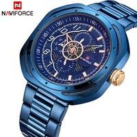NAVIFORCE Top Luxury Brand Watches Men Fashion Sport Quartz 24 Hours Date Clock Man Full Steel Military Waterproof Wist Watch