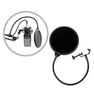 Image 4 - Micro Flexible vent écran Pop filtre Portable Studio enregistrement parlant chant condensateur Microphone filtre montage masque