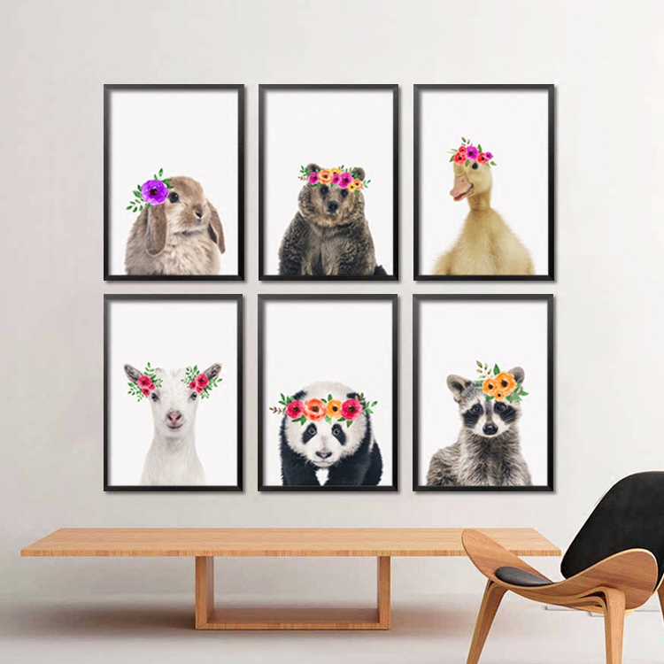 2017 Nordic Living Plush Animals Canvas Art Print Painting Poster Wall  Picture For Home Decoration Home Decor 200