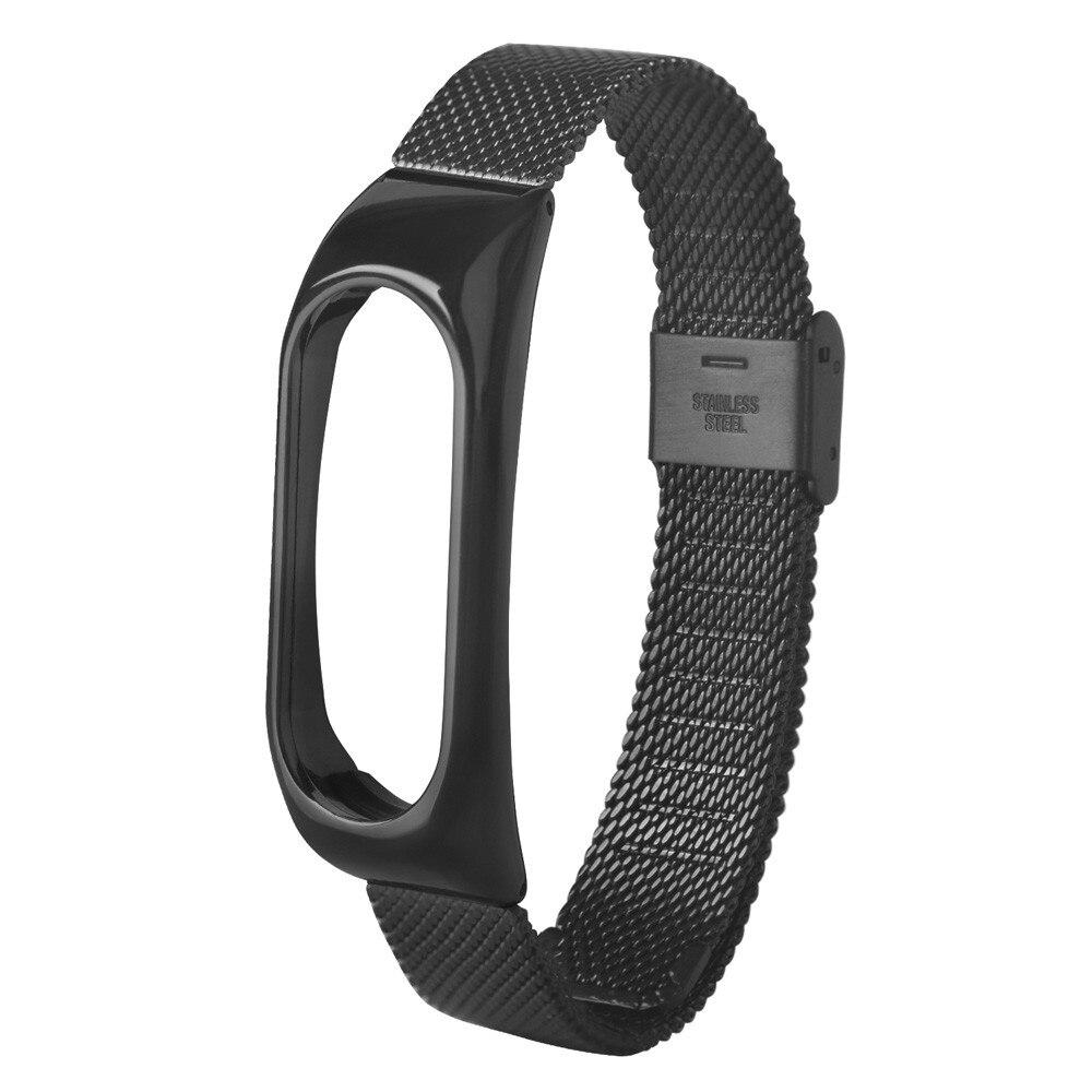 все цены на  Fashion Lightweight Stainless Steel Smart Wrist Watch Strap For Xiaomi Miband 2  relogio feminino erkek kol saati mens watches  в интернете