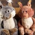 Candice guo! Nici brinquedos de pelúcia bonito dos desenhos animados do Esquilo Sino cauda de pelúcia boneca de aniversário amante presente de Natal cinza/marrom 1 pc