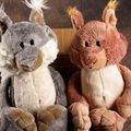 candice guo! Nici plush toy cute cartoon Squirrel Bell tail stuffed doll lover birthday Christmas gift gray/ brown 1pc