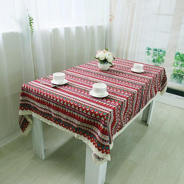 Gestreiften Tischdecke Tischtuch Spitze Häkeln Toalha De Mesa ...
