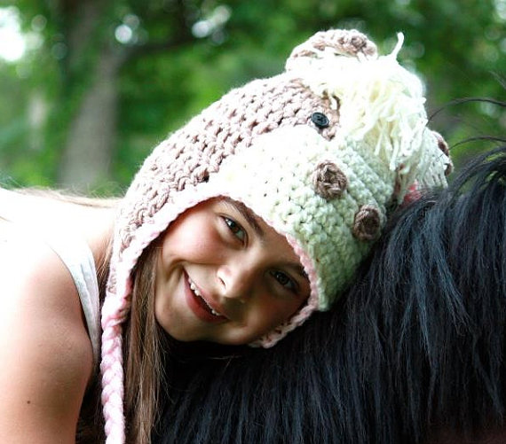 100% хлопок крючком лошадь Hat, pony Hat, наряд для фото новорожденных, пастушка Обувь для девочек крючком, детские Обувь для девочек сельскохозяйс...