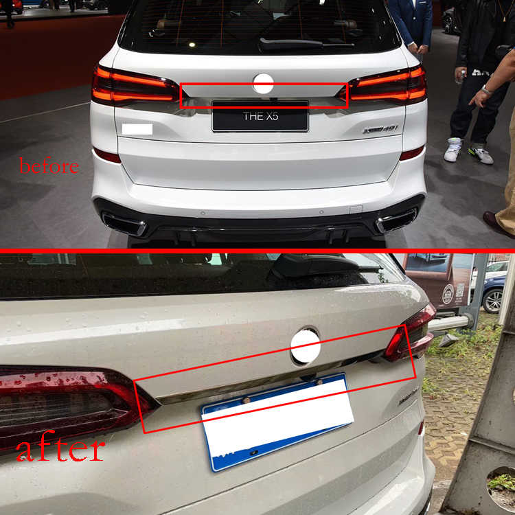 For Bmw X5 G05 2019 2020 Tailgate Grab Handle Cover Stainless Steel Rear Boot Door Trim Cover Trunk Lid Chromium Styling Aliexpress