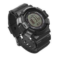 SUNROAD FR821 Digital Sports Men Watch Alimeter Pedometer Step Counter Pedometer Outdoor Sports Clock Original Wrist Watch Men