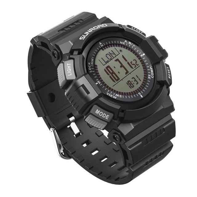 Sunroad fr821 alimeter paso podómetro contador digital deportes reloj de los hombres deportes al aire libre reloj original reloj de pulsera de los hombres