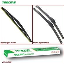Front and Rear Wiper Blades For Mazda 2  2003 2004 2005 2006 2007 Windshield Windscreen wiper Auto Car Accessories 24