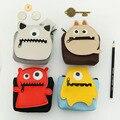 4pcs/lot Hot sale! super cute Mini coin purse key wallet  PU purse small monster wallet