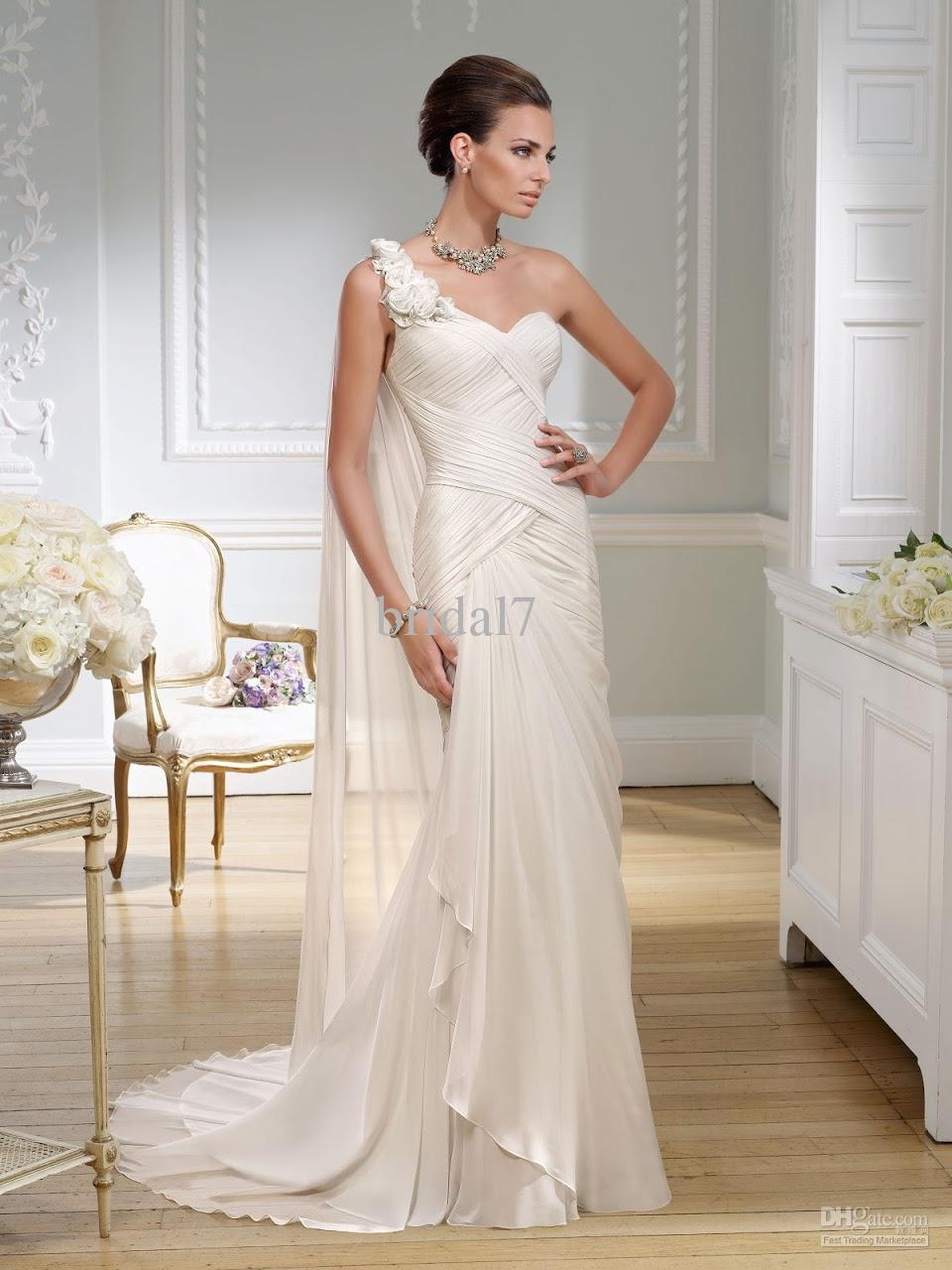 Popular grecian wedding dress buy cheap grecian wedding for Grecian chiffon wedding dress