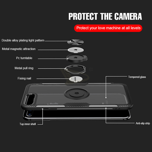 iPhone 11 Pro X Xs Max Shockproof Ring Holder Back Case Cover