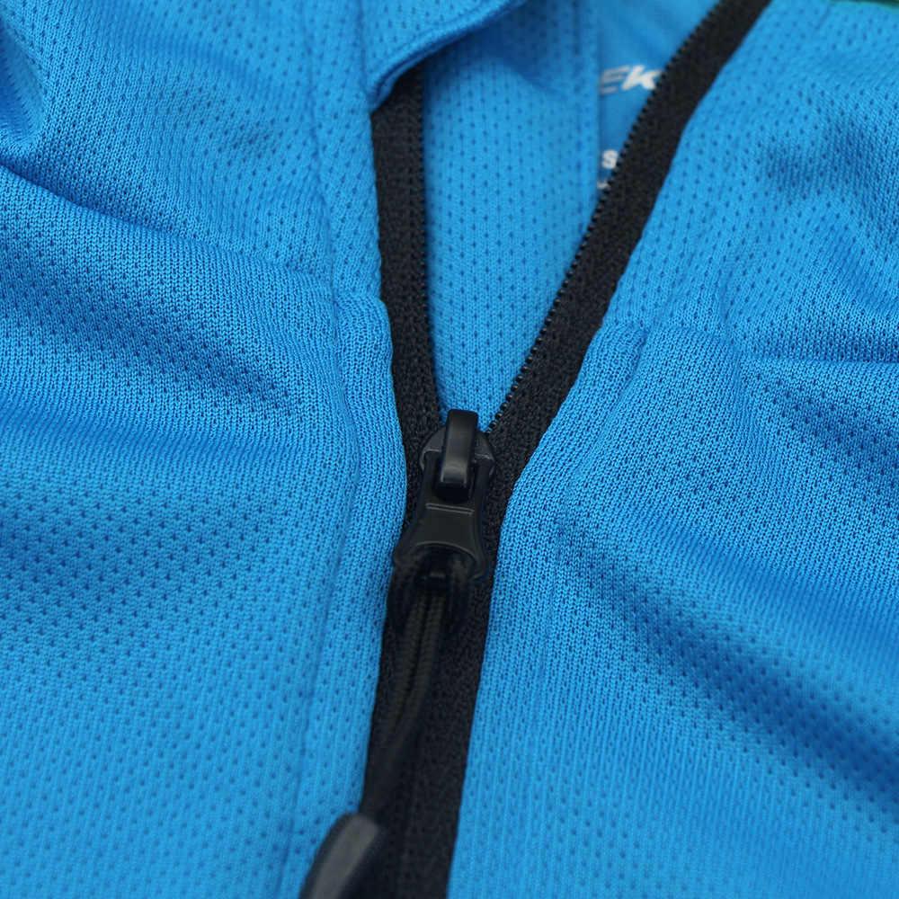 Cuzaekii男性の吸上サイクリングジャージーバイク自転車mtb dh長袖シャツランニングアウトドアレジャースポーツウェア服