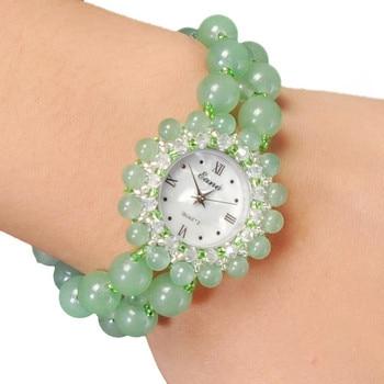 2020 Offer Wholesale Natural Jade Bracelet Watches Supermarket Counters Source Small Quartz Watch Women's