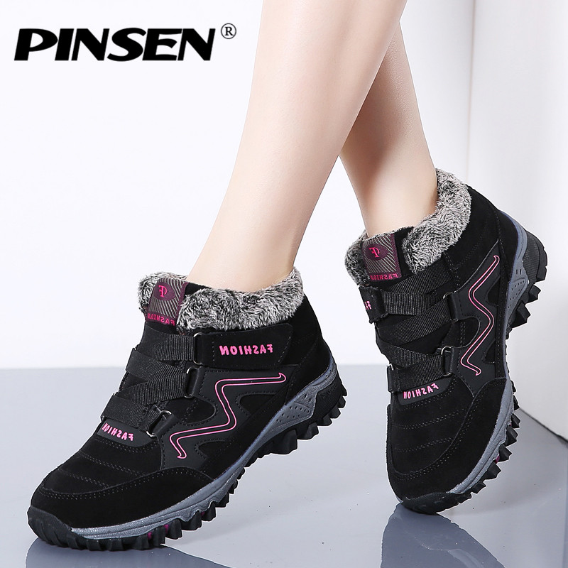 PINSEN 2019 Fashion Winter Women Shoes High Quality Non