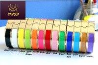 12mm Luxury Cuff H Bracelets Bangle Wristband Enamel Bracelet Letter Buckle Top Quality Bracelets For Women