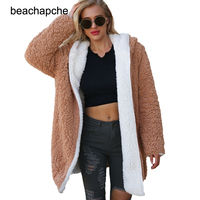 Faux lambswool lapel women jacket basic coat Winter warm zipper short jacket Autumn outerwear 2018 female suede overcoat