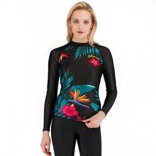 SBART женские водолазный костюм составной Сноркелинг купальник тонкий с длинными рукавами Защита от солнца; серфинг одежда медузы одежда Купальники