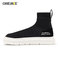 Onemix Sock Ankle Boots For Unisex Height Increasing Running Shoes For Women Outdoor Men Sneakers Autumn