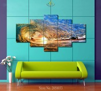 1-3-4-5 Pieces Adorable Ocean Waves Wall Art Paintings Picture Pinting Canvas Paints Home Decor Printed Painting Wall Picture
