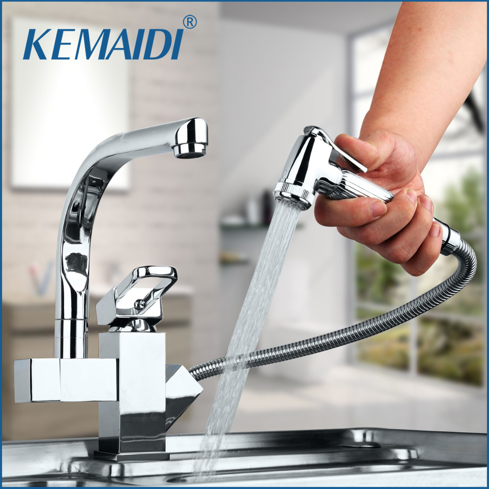 KEMAIDI Solid Brass Kitchen Mixer taps hot and cold Kitchen Tap Single Hole Water Tap Kitchen Faucet torneira cozinha
