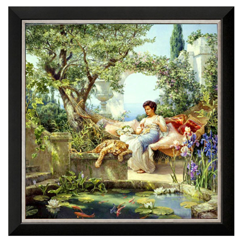 Needlework DIY DMC 11CT 14CT unprinted Cross stitch kits For Embroidery women picture Italian noon Counted Cross-Stitching craftNeedlework DIY DMC 11CT 14CT unprinted Cross stitch kits For Embroidery women picture Italian noon Counted Cross-Stitching craft