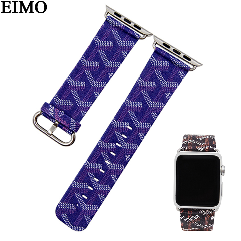 EIMO Armband Armband Für Apple Uhr Band 44/42mm 38/40mm Iwatch Band serie 4 3 2 1 echtem Beather Strap-Armband Correa