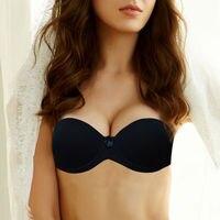 Vogue Secret Sexy Push New Up Bras Bralette Underwear Women Silicone Strapless Bra Invisible Wedding Bra