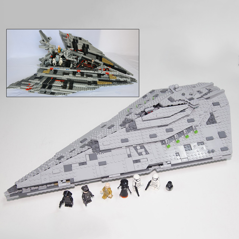 Star Wars Building Blocks First Order Star Destroyer Starfighter Model Bricks Toy Compatible Legoland 75190 05131