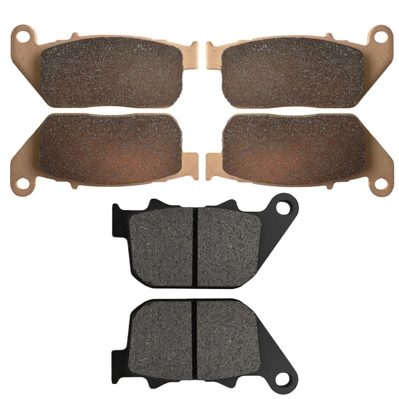 Motorcycle Front and Rear Brake Pads for  HARLEY DAVIDSON XL 1200 R XL1200R Sportster Roadster 2004-2008 Black Brake Disc Pad motorcycle front and rear brake pads for harley davidson xl 1200 r xl1200r sportster roadster 2004 2008 black brake disc pad