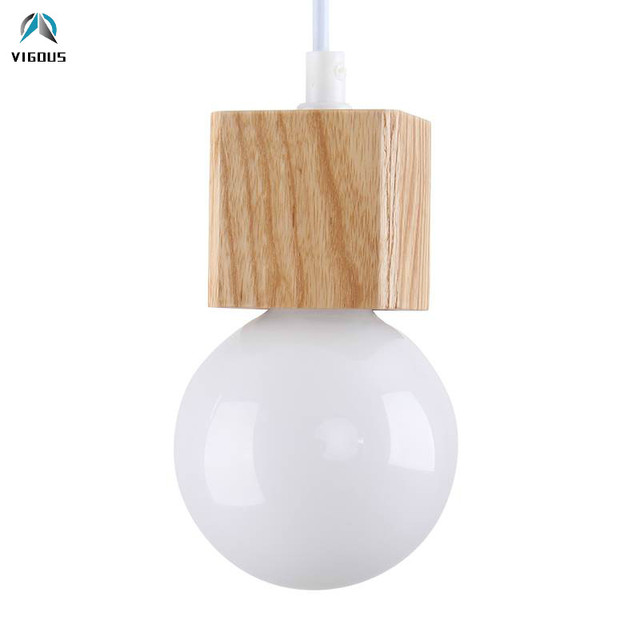 Europe Nordic Simple Wood E14 Led Pendant Light Luminarias Fixtures Pendant Lamp DIY Hanging Lamp Suspend Lamp for Dining Room