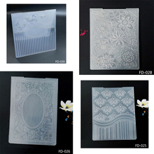 ZhuoAng New floating cloud pattern embossed folder / album decoration card to make clear stamp supplies