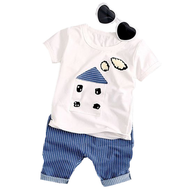 43627484f 2018 Summer new fashion baby boys clothing set cotton with house ...