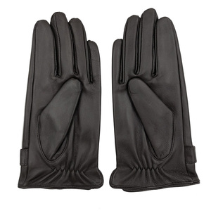 Image 4 - YY8597 Spring/Winter Real Leather Short Gloves For Men Male Thin/Thick Black/Brown Touched Screen Gant Gym Luvas Driving Mittens