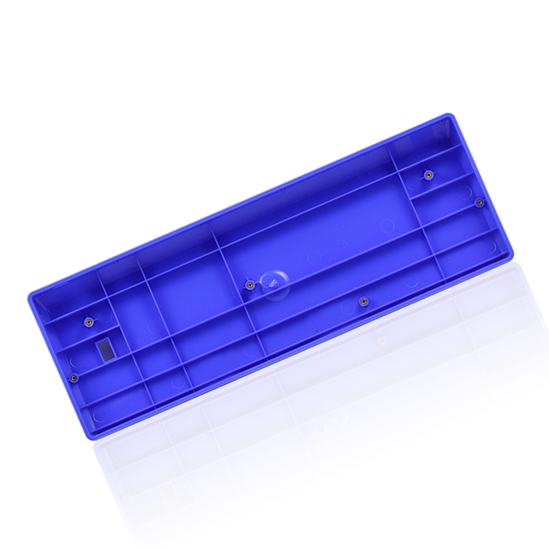 купить GH60 compact keyboard base seat POKERII 60% mechanical keyboard poker2 plastic frame case gaming keyboard FACEU blue red purple по цене 1013.16 рублей