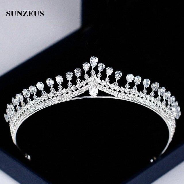 Новая страз свадебная тиара Блестящая серебряная принцесса короны для невесты свадебный головной аксессуар бесплатная доставка SQ0294