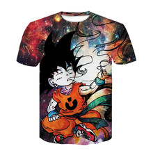 New Dragon Ball Impressão Camisetas Mens Verão 3D Zamasu Dragonball Vegeta Super Saiyan Goku Preto Casual T Camisa Tops tee(China)