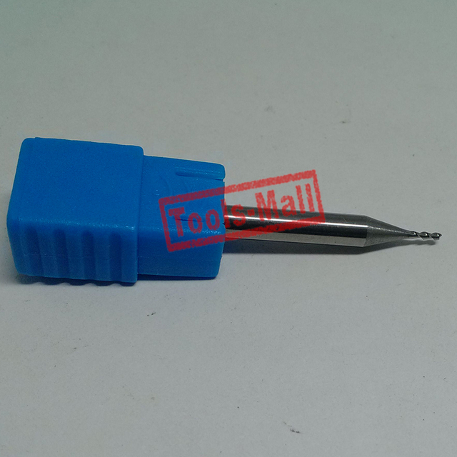 1pc 1mm D1*3*D4*75 HRC50 2 Flutes Milling cutters for Aluminum  CNC Tools Solid Carbide CNC flat End mills Router bits