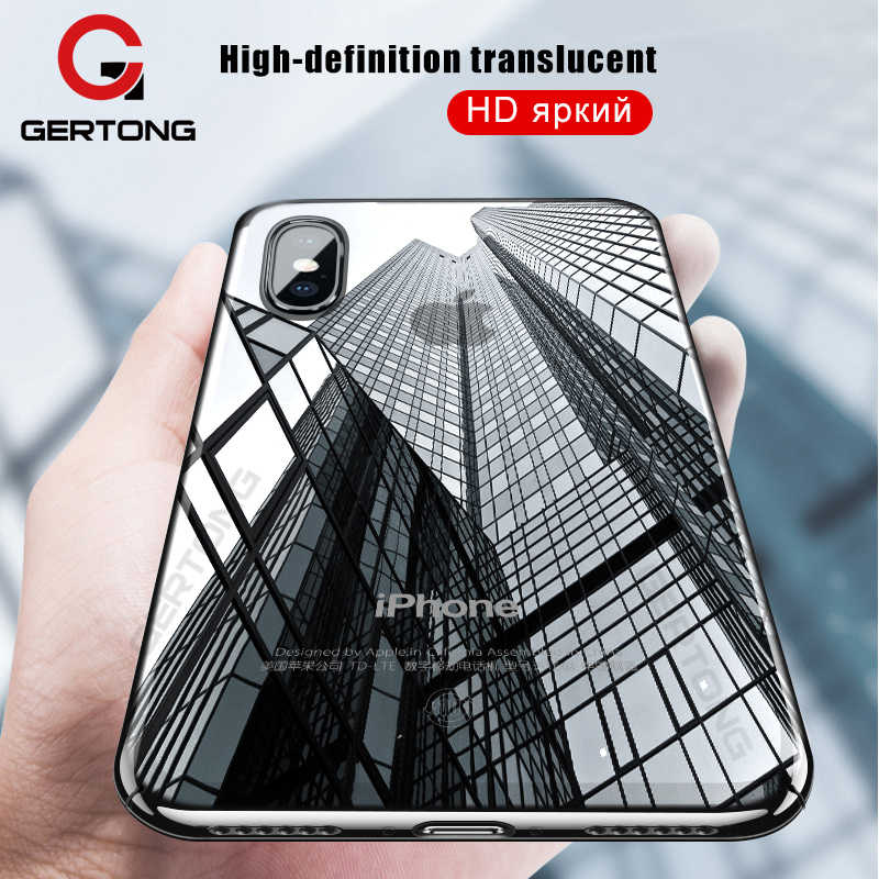 GerTong Tansparent Case Cover For iPhone XR XS Max X 10 8 7 6 S 6S Plus 5 5S SE 4 4S Soft TPU Case Silicone Phone Cases