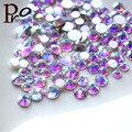 1440 pçs/saco SS3-SS16 Crystal Clear AB Não Hotfix Strass Flatback Prego Strass Para Unhas 3D Nail Art Decoração Gems