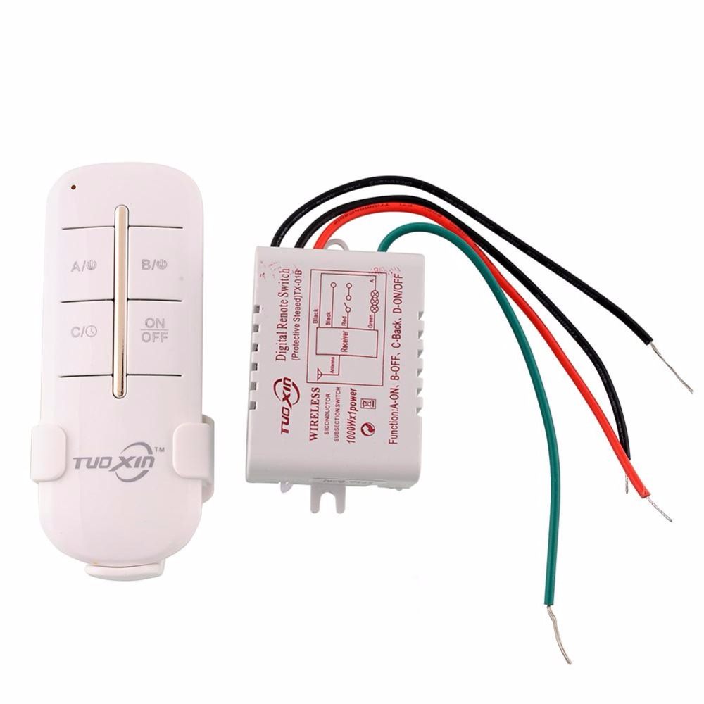 1 Channel Way ON/OFF Digital Wireless Light 110V Garage Wall New Switch Splitter Box Remote Control 4 channel on off control switch power digital wireless remote control light lamp drop ship