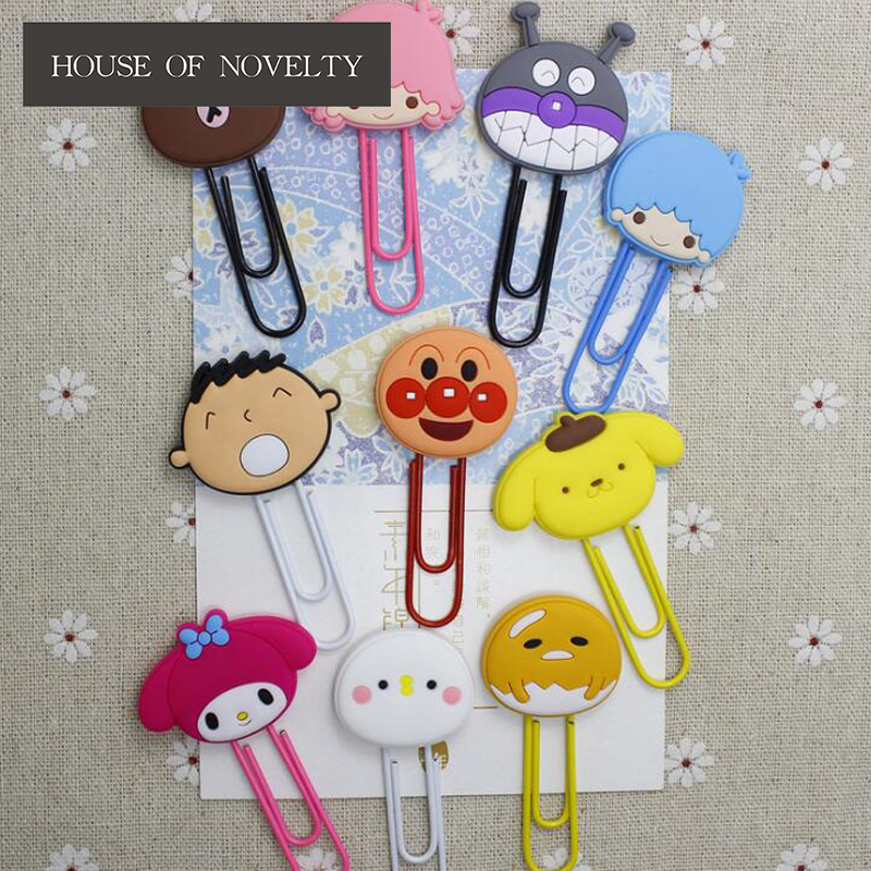 Cute Melody Twin Star Paper Clip Bookmark Promotional Gift Stationery School Office Supply Escolar Papelaria