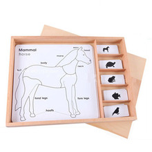 цены на New Wooden Baby Toys Montessori Mosaic Panels For Animals And Plants  в интернет-магазинах